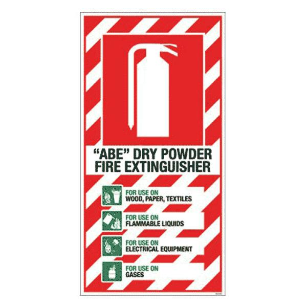 ABE Dry Powder Blazon Sign