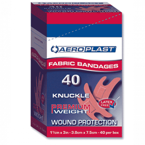 Aeroplast Fabric Knuckle Plasters – Box of 100 (Large Size 7.5cm x 3.8cm)