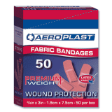 Aeroplast Fabric Plasters – Box of 50 (75mm x 19mm)