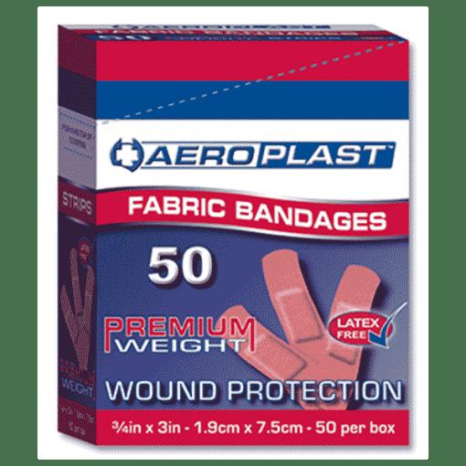 Aeroplast Fabric Plasters – Box of 50 (75mm x 19mm)