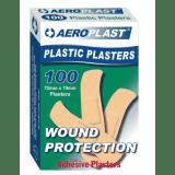 Aeroplast Plastic Plasters - Box 100 (72mm x 19mm)