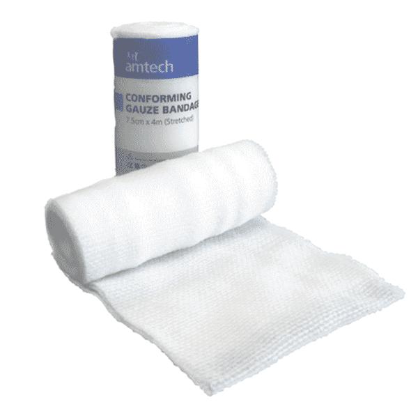 Conforming Gauze Bandage 7.5cm x 4m