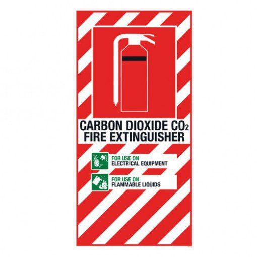 CO2 Extinguisher Blazon Large - 600 x 300mm