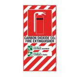 CO2 Extinguisher Blazon Small - 210 x 410mm
