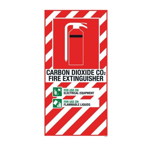 CO2 Extinguisher Blazon Small - 210 x 410mm