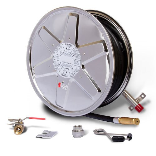 Fire Hose Reel 36m x 19mm Stainless Steel
