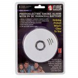 Photoelectric Smoke Alarm with 10 Year Lithium Battery