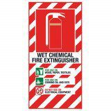 Wet Chemical Extinguisher Blazon Sign Large - 600 x 300mm