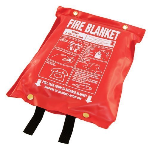 1.8m x 1.8m Fire Blanket - Soft Plastic Pouch (Extra Large)