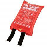 1.2m x 1.2m Fire Blanket - Soft Plastic Pouch (Medium)