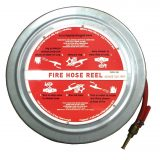 Fire Hose Reel (complete) - Stainless Steel 19mm x 25m - AS/NZS 1221